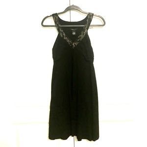 BCBG MaxAzria Beaded Black Empire Waist Dress M